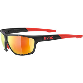 UVEX Sportstyle 706 Lunettes de sport, anthracite/red/mirror red